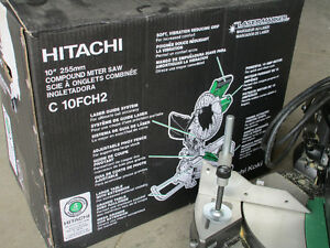 Hitachi 10-in 15-Amp Bevel Compound Miter Saw Laser machine Kitchener / Waterloo Kitchener Area image 5