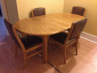 Solid Wood Kitchen Table & Chairs