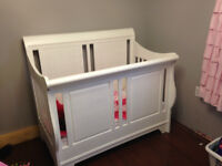 Convertible 3 in 1 Sleigh Crib (Double Bed)