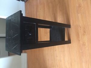 Decorative black tribal accent table for sale