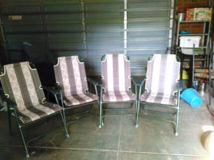 Set of 4 folding chairs - padded and comfortable Bayswater Knox Area Preview