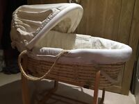 Mamas and papas once upon a time Moses basket (with nearly new mattress)