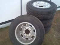 Set of 4 tires and rims off F350 $1500.00 OBO.