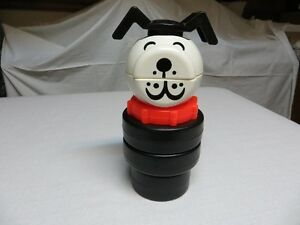 Fisher Price Stackable Dog Toy - Vintage