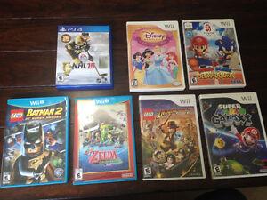 PS4,Wii U, Wii video games