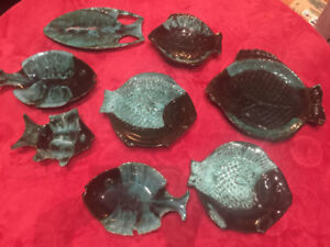 Blue Mountain Pottery Fish Platter Collection