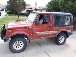 1986 LWB Suzuki Samurai for sale.