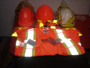 CONSTRUCTION SAFETY VESTS AND HATS