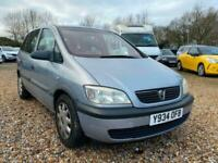 2001 Vauxhall Zafira 1.6 Club 5dr 7 Seater. 85000mls From New.