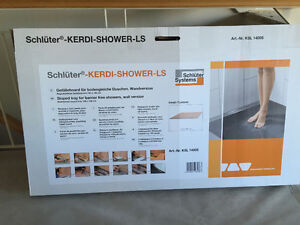 "Schulter Systems ""sloped tray for barrier free shower"""