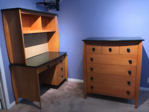Solid wood 6 piece bedroom furniture set