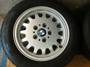 "COMPLETE SET of 15"" BMW WHEELS $100"