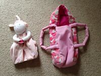 Free doll carrier and nappy stacker