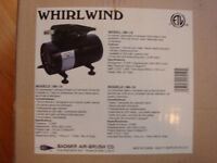 BRAND NEW WHIRLWIND BADGER OILESS AIR COMPRESSOR