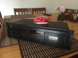 Yamaha KX-W382 Dual Cassette Tape Deck with Manual
