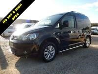 2013 62 VOLKSWAGEN CADDY 1.6 C20 TDI HIGHLINE 102 BHP BLACK 56042 MILES NO VAT D