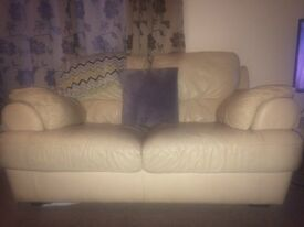 Cream leather sofa FREE!!!