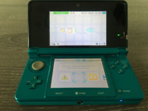 NINTENDO 3DS, w charger & charging port, stylus, & 10 games