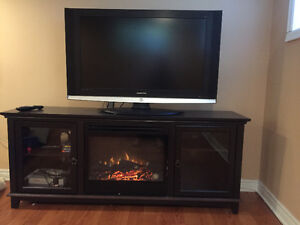 Beautiful fireplace entertainment unit