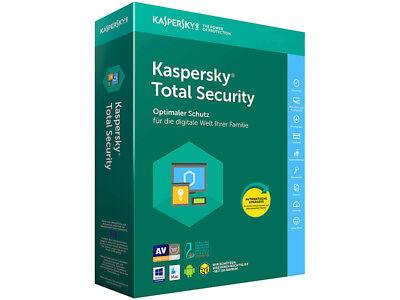Kaspersky Total Security Multi Device 2018 5PC Gerät 1 Jahr Download Vollversion