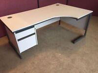 Grey 1800 corner office desk