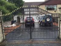DRIVEWAY GATES, RAILINGS