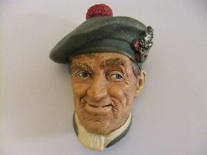 9 chalkware vintage bossons heads all in fair condition