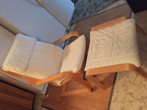 IKEA Chair and Footstool
