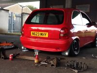 Corsa b spoiler & smoothed boot lid