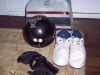 Men's and Ladies Bowling Balls, Bags and Shoes for sale