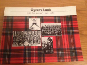 Queen's University Bands 75th Anniversary 1905-1980 Book