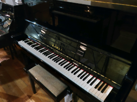 Kawai NS-10 upright piano black polyester for sale