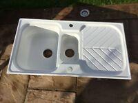 Astra cast white sink.
