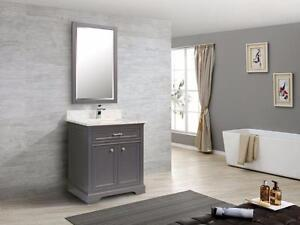Floor Sale! - $ 1898.00 70% OFF - Camden 31 Vanity with Ash Grey Quartz Top