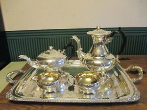 MARLBORO TEA & COFFEE POTS, CREAM & SUGAR SET