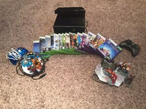 XBOX 360 w/ Kinect, controllers & games