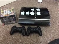 PS3 Console With 2 Controllers, GAMES, All wires included. LOTS OF GAMES