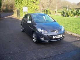Mazda 2 1.3 Venture Edition ONE LADY OWNER FULL SERVICE HISTORY SAT NAV & BLUETOOTH (grey) 2014