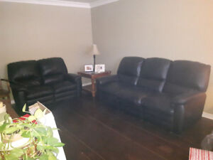 Soft Leather sofa and love seat (both seats pull out)