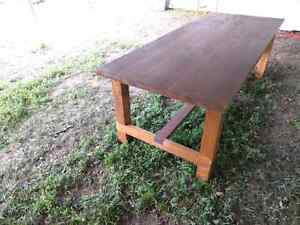 Huge harvest style table. 8ft long.  Peterborough Peterborough Area image 6