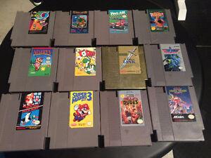 Original Nintendo Games, Controllers and Zapper Gun