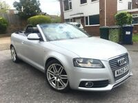 Audi A3 2.0 TDI S Line Cabriolet 2009, 50,000 Miles, FULL Audi Service History, HPI Clear