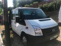 2014 64 FORD TRANSIT CREWCAB DROPSIDE / LOW MILES