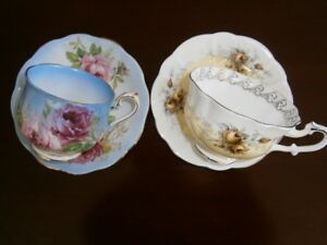 TWO EXCEPTIONAL ROYAL ALBERT CUP AND SAUCERS