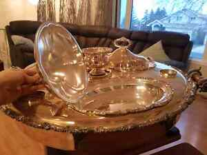 Beautiful sheffield silver plated bain marie lazy susan Edmonton Edmonton Area image 1
