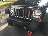 Jeep wrangler chrome grille