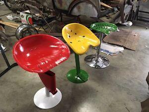 Vintage tractor seat stools