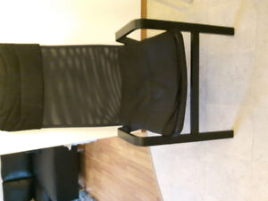 ALMOST NEW COMFY IKEA CHAIR WITH REMOVABLE PADDED SEAT