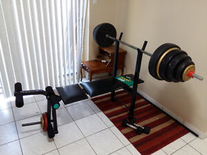 185lbs with bench and bar