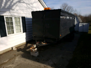 6'×16' Semi Enclosed Trailer with Gate